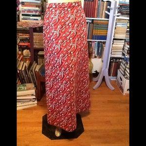 Vintage Boho Hippy Skirt Psychedelic Sz Small